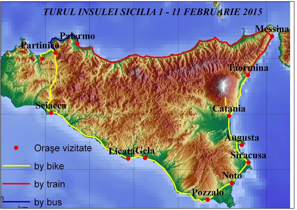 Sicilia Pe Bicicleta